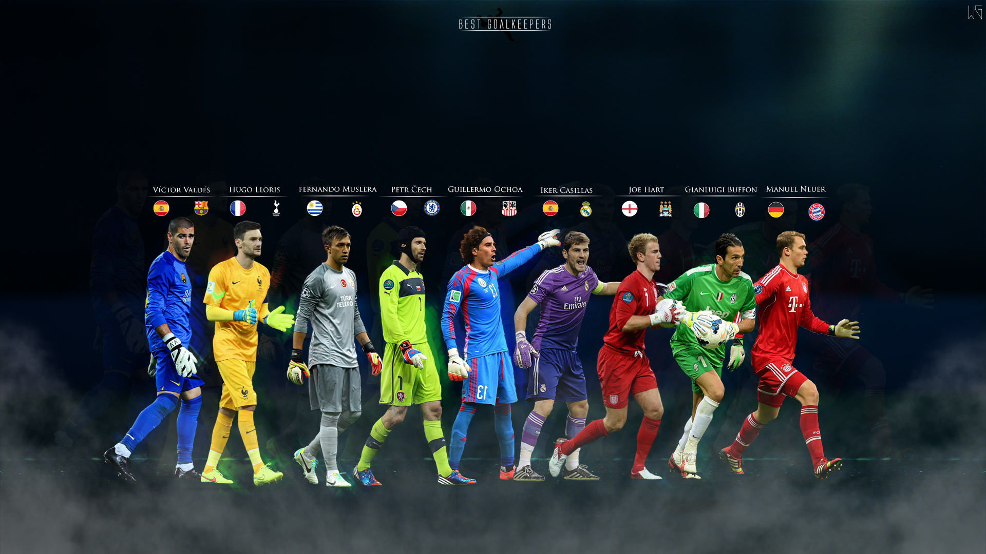 BEST GOALKEEPERS by ByWarf 1920x1080
