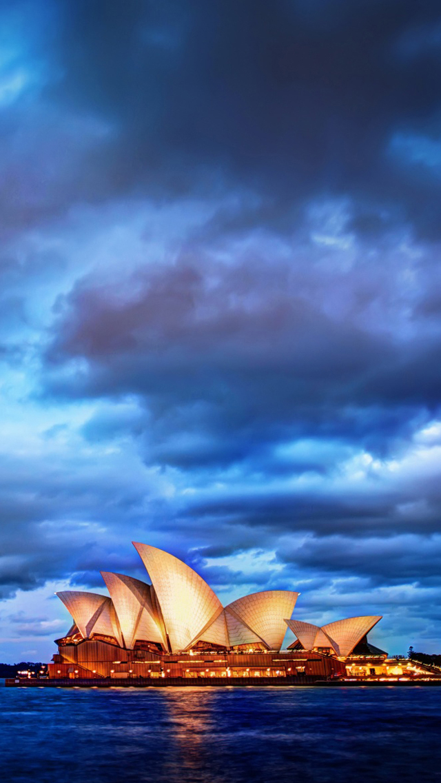 home iphone 5 wallpapers city building sydney opera house 640x1136
