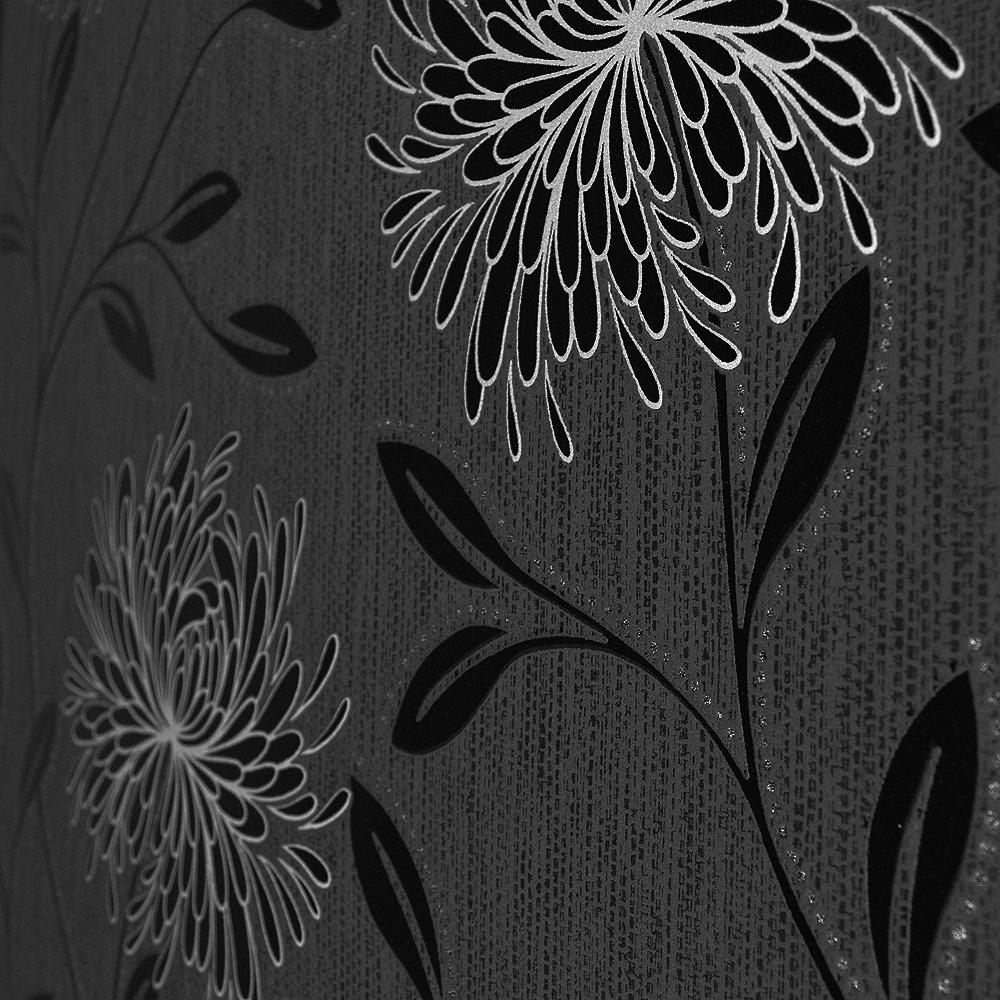 wallpaper c1patterned wallpaper c2dahlia wallpaper black silver p8 1000x1000