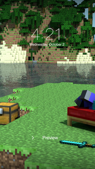 HD Wallpapers For MineCraft para iPhone iPod touch y iPad en el 320x568