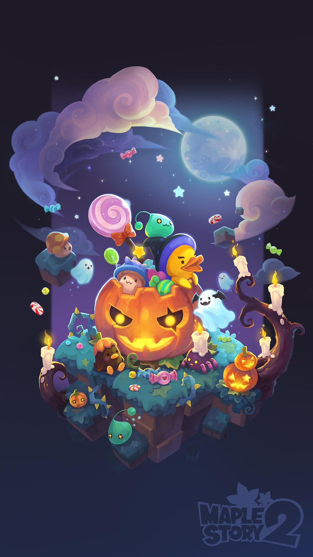 Halloween Wallpaper Official MapleStory 2 Website 1080x1920