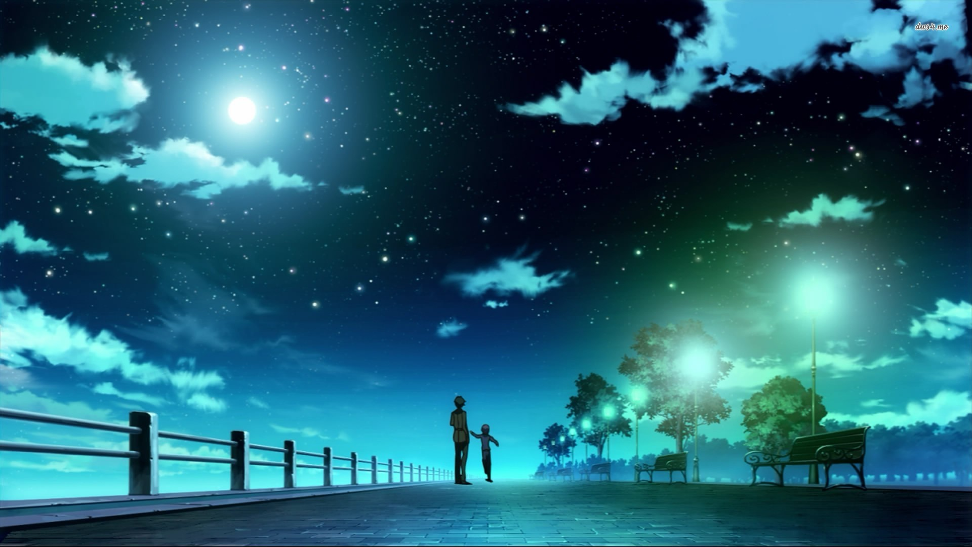 Starry night anime wallpaper