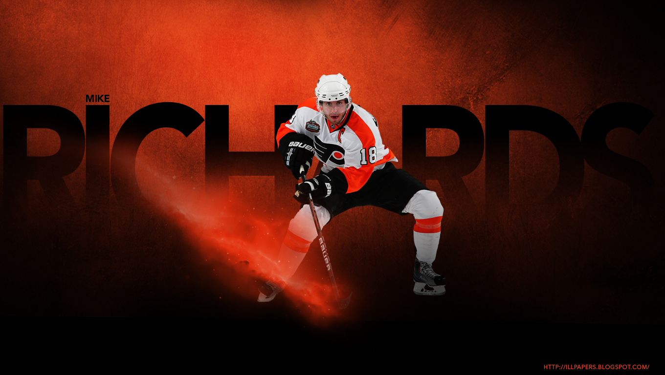 Wallpapers Backgrounds More Philadelphia Flyers   Mike Richards 1360x768