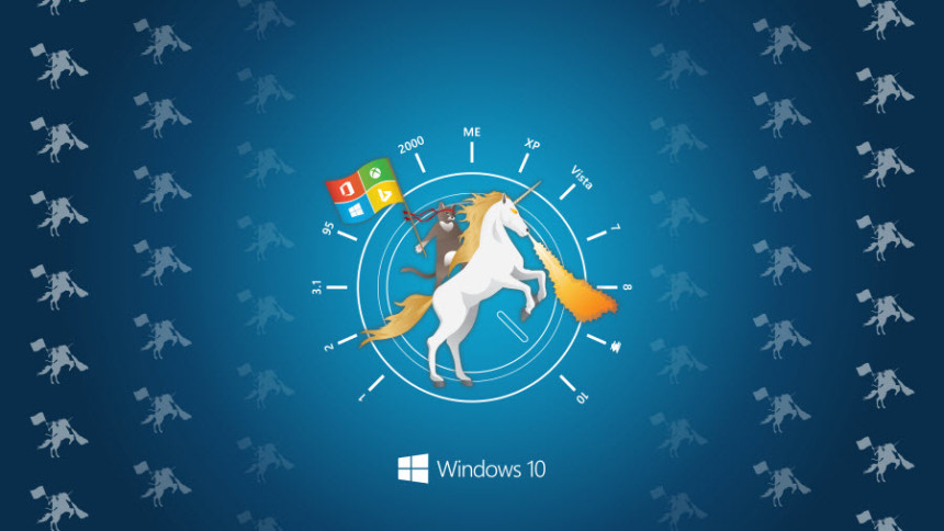 Windows 10 Hero Ninja Cat auf Unicorn Wallpaper WindowsBlogat 860x484
