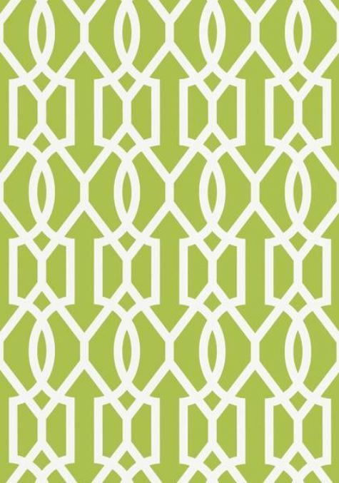 Downing Gate wallpaper and coordinating fabric in Green from the 475x677