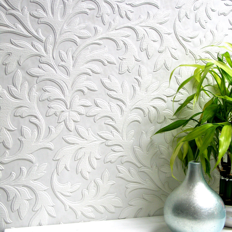 Anaglypta Luxury Textured Vinyl Wallpaper   High Leaf RD80026 800x800
