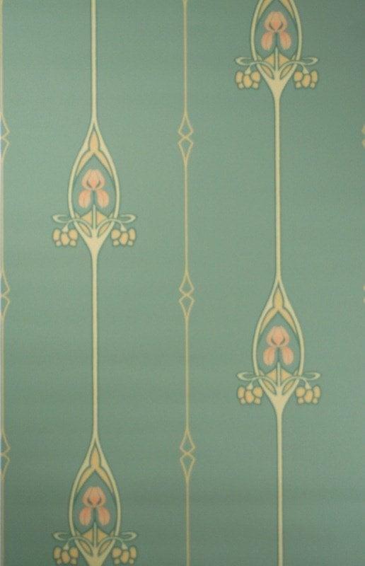Jugendstil Tapete Art Nouveau wallpaper pattern Trendvee 516x800