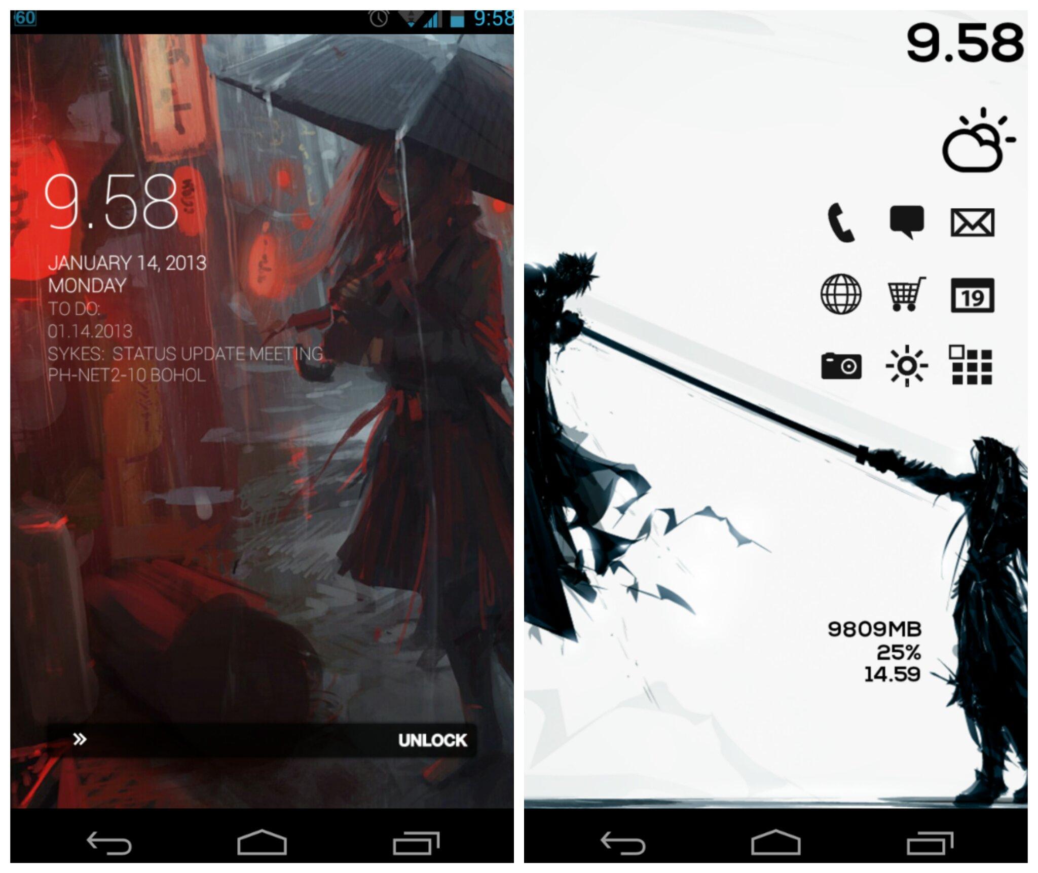 Cloud vs Sephiroth Android Homescreen by jepoiski04   MyColorscreen 2048x1723