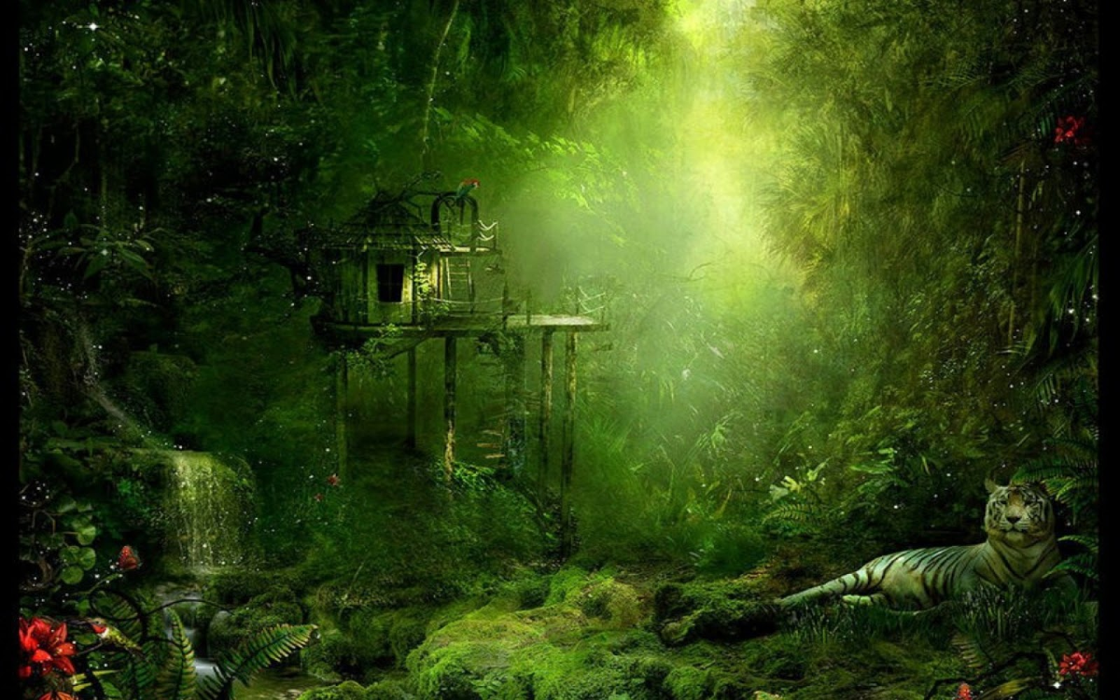 Jungle wallpaper for home wallpapersafari for Home wallpaper videos