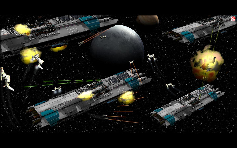 Desktop Wallpapers Space Battle Desktop Wallpaper   iWallScreen 1440x900