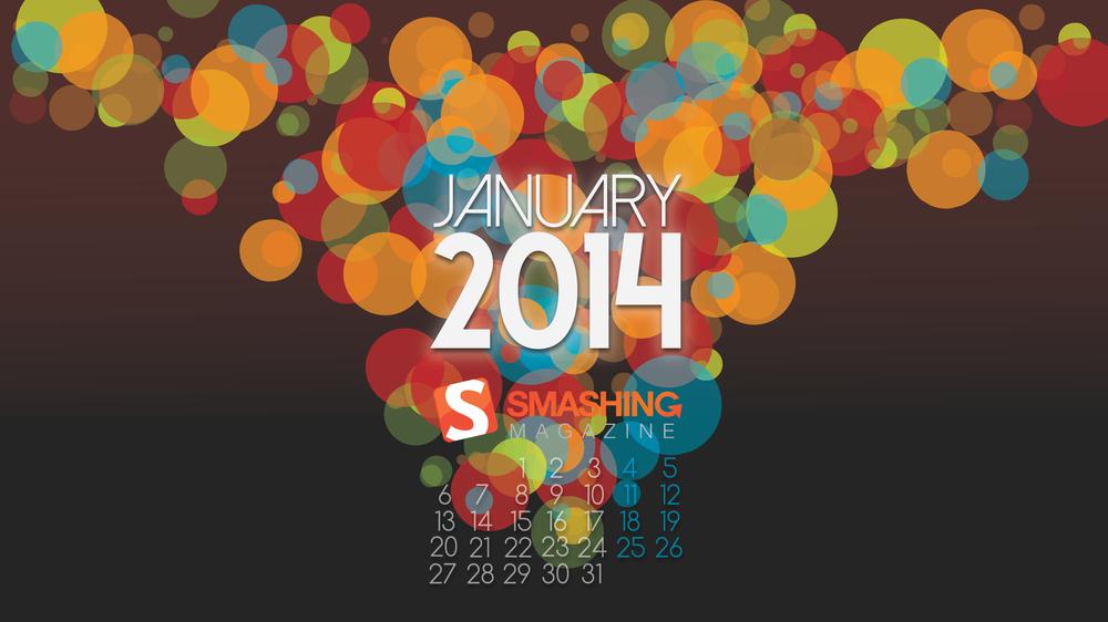 Download Smashing Magazine Desktop Wallpaper Calendar January 2014 1000x562