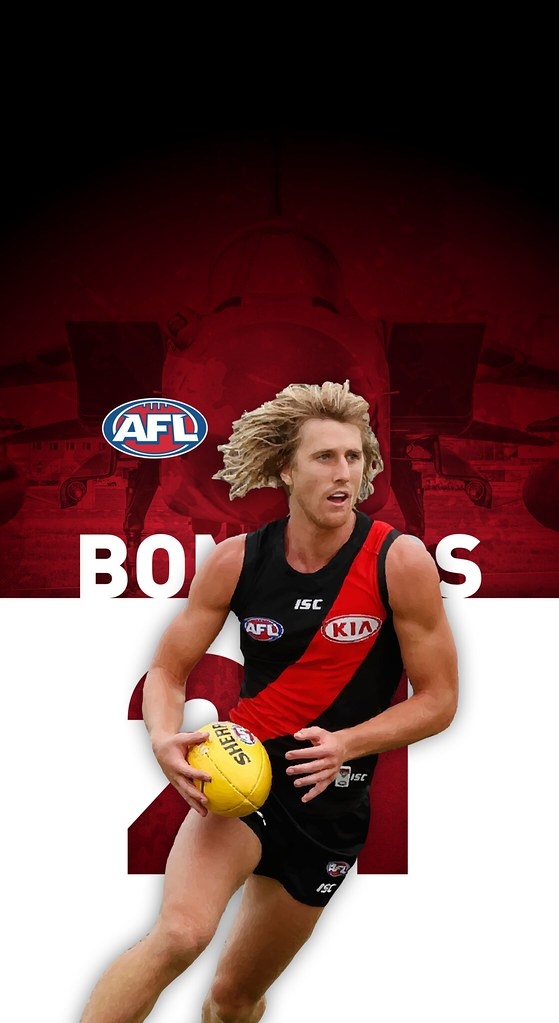 21 Dyson Heppell Essendon Bombers iPhone X Wallpaper Flickr 559x1023