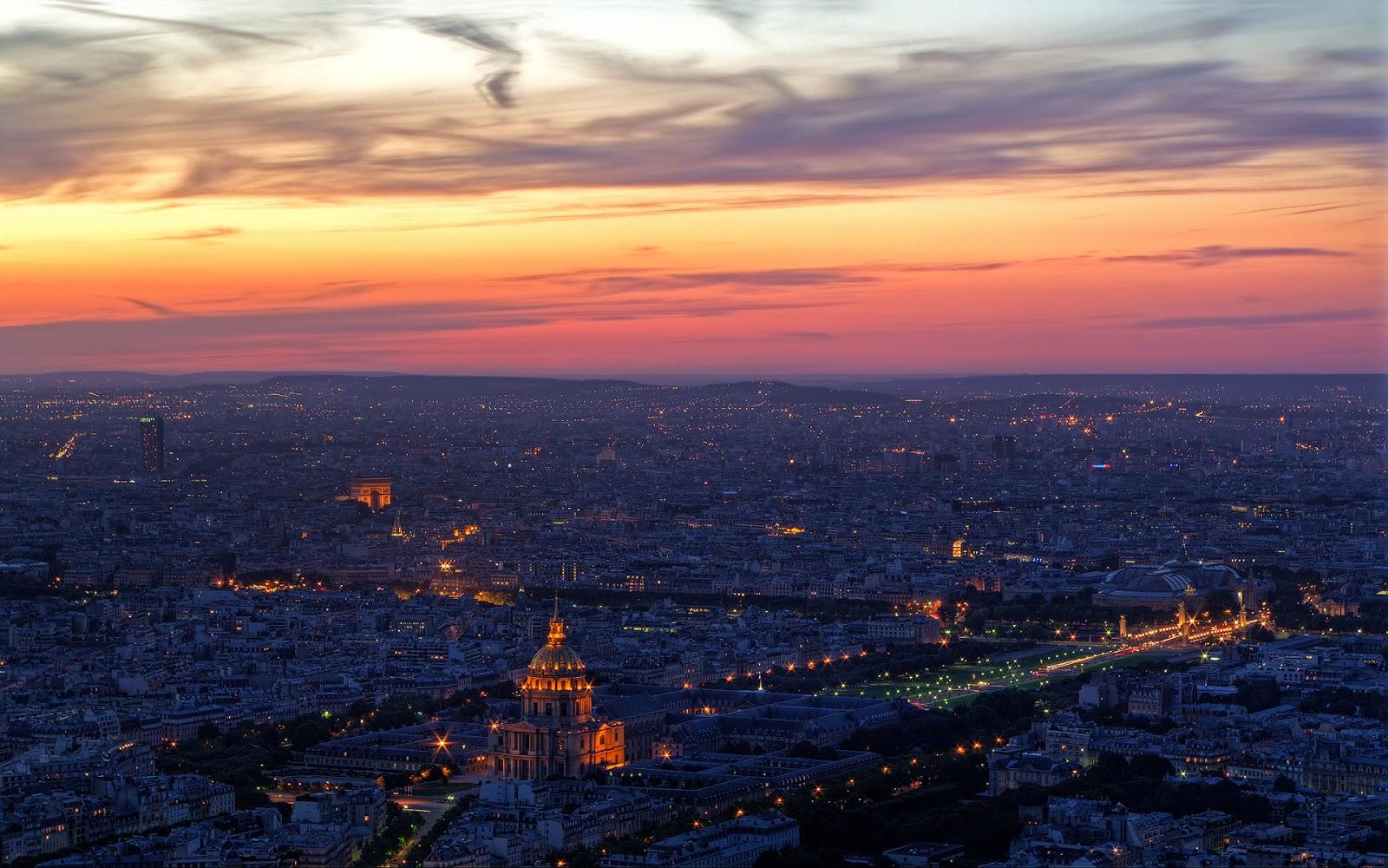 Paris at Night Wallpaper 1600x1000