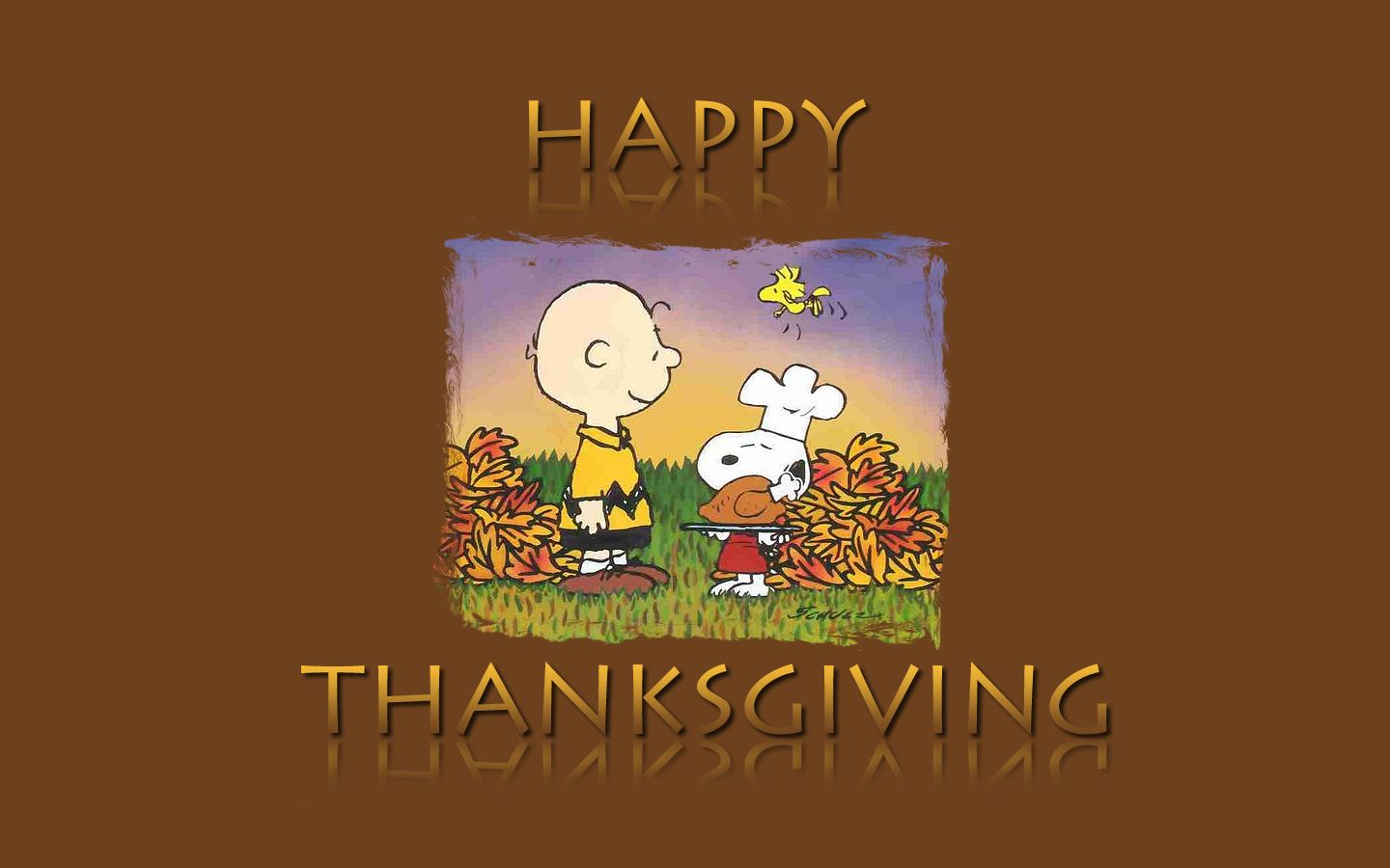 wallpaper for computer for thanksgiving Snoopy peanuts desktop 1440x900
