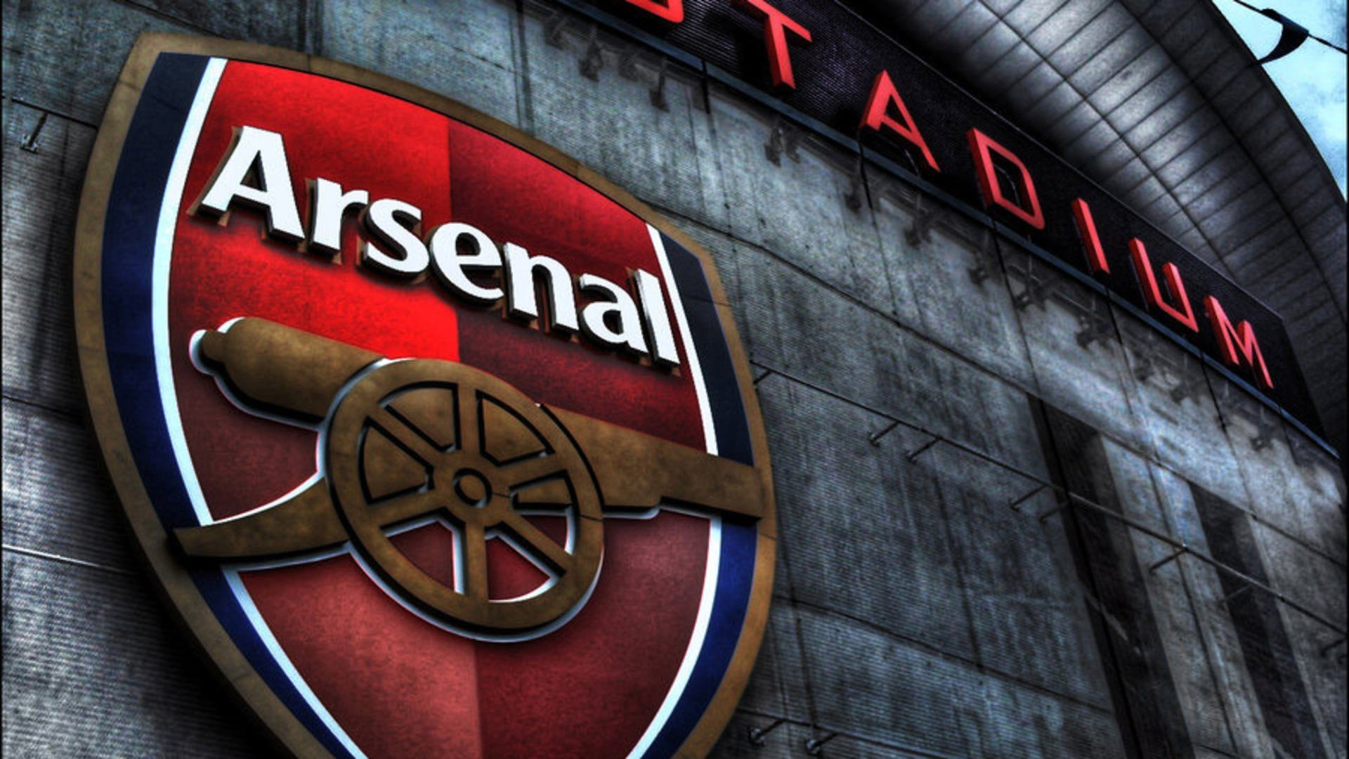 arsenal football club logo wallpaper hd backgrounds for mobile and pc 1920x1080