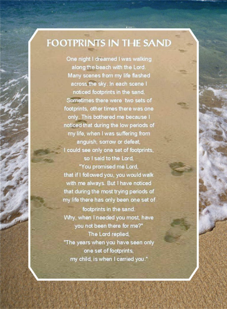 Footsteps Poem Wallpaper Footsteps poem   viewing 768x1045