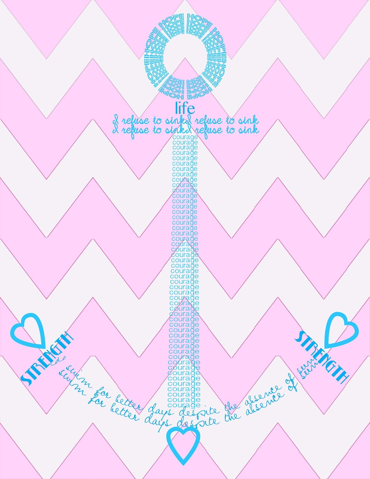 Pink Anchor Background anchor of the soul 1236x1600