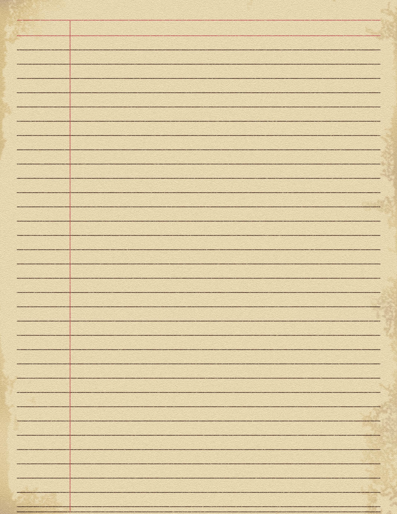 Notebook Paper Wallpaper WallpaperSafari – Yellow Notebook Paper Background