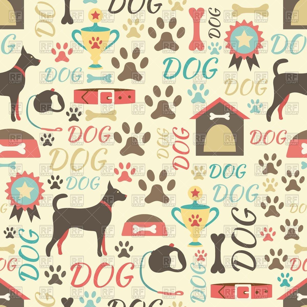 38 Dog Pattern Wallpaper On Wallpapersafari
