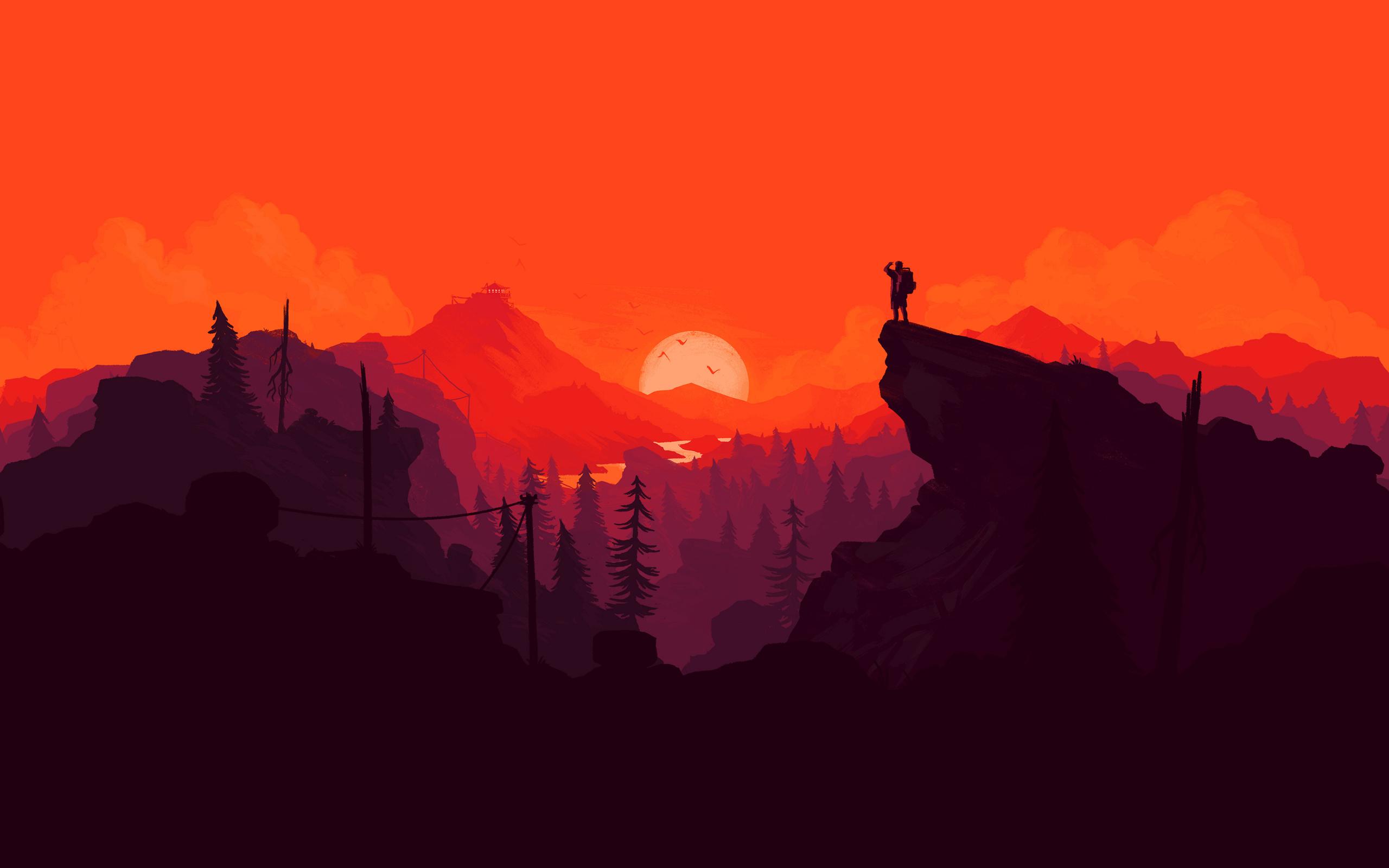 Download Explorer sunset valley digital art wallpaper 2560x1600