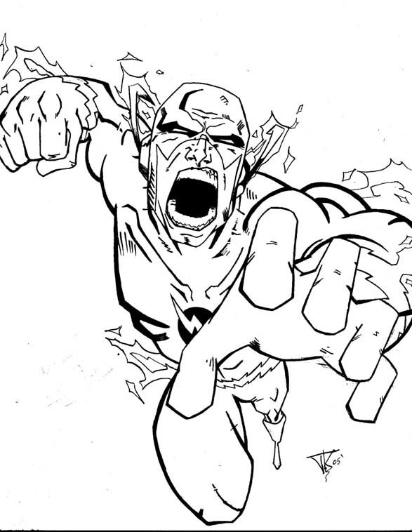 Flash Coloring Pages Printable  Coloring Pages For Kids and All Ages