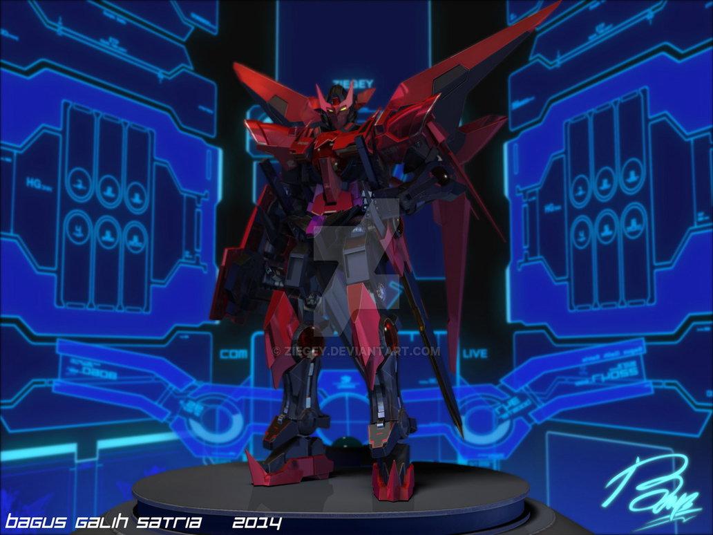 Gundam Exia Dark Matter Final by ziegey 1032x774