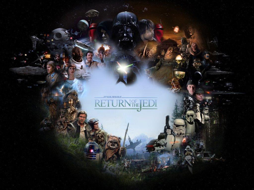 Fondo de Pantalla de Star Wars El Retorno del Jedi Personajes 1024x768