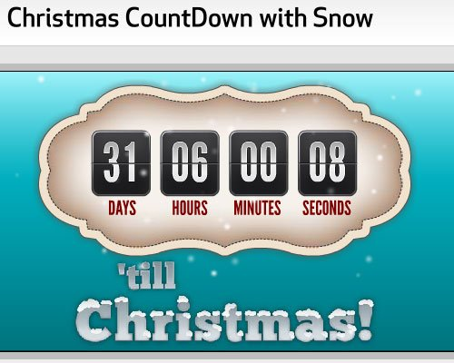 More 10 Awesome Countdown Timers to Christmas 2010 9 Nice Blog 500x400