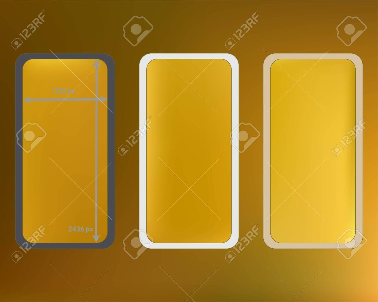 Mesh Gold Colored Phone Backgrounds Kit Crisp Separated Groups 1300x1040