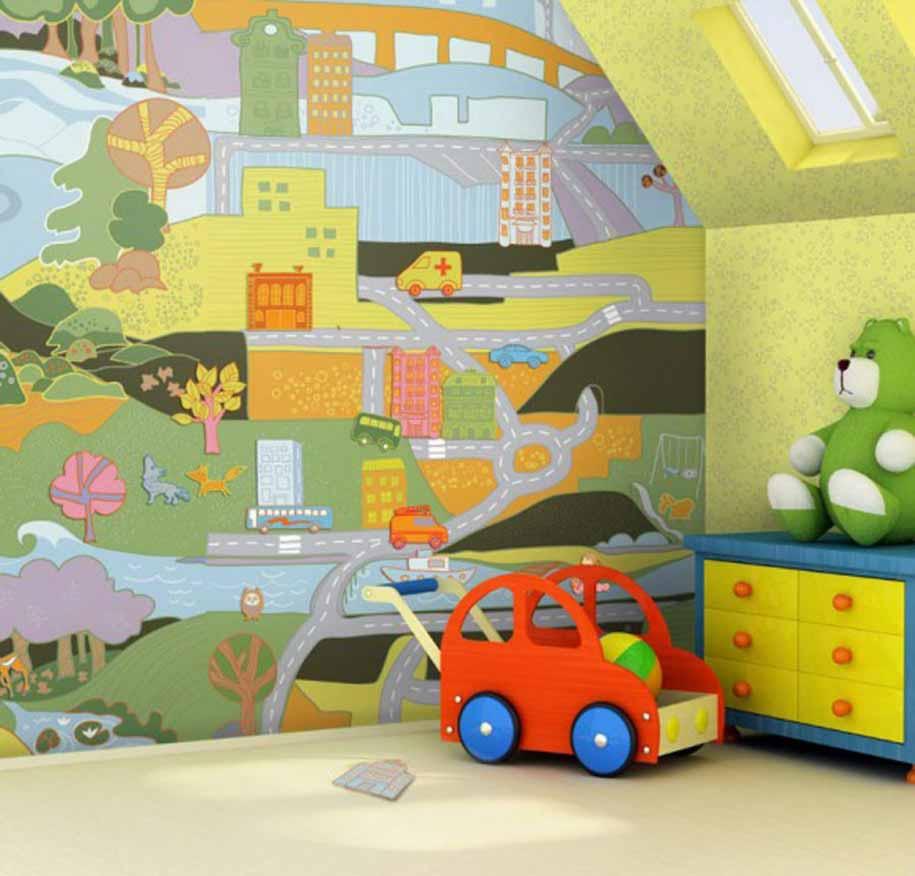 Tips Menentukan Design Wallpaper Kamar Anak Wallpaper Mural Baby For 915x876