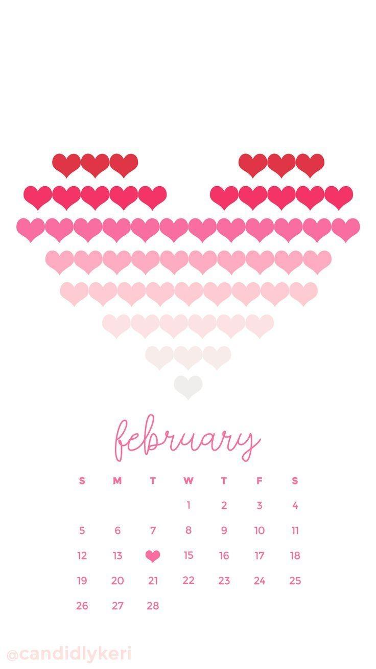 February 2018 Calendar Wallpaper mathmarkstrainonescom 736x1308