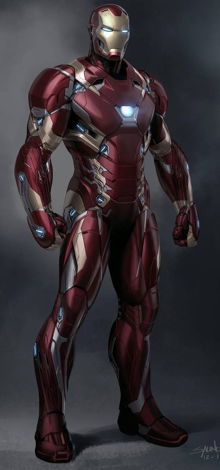 Iron Man Mark XLVI by Phil Saunders Ironman Cmics Iron man 700x1496