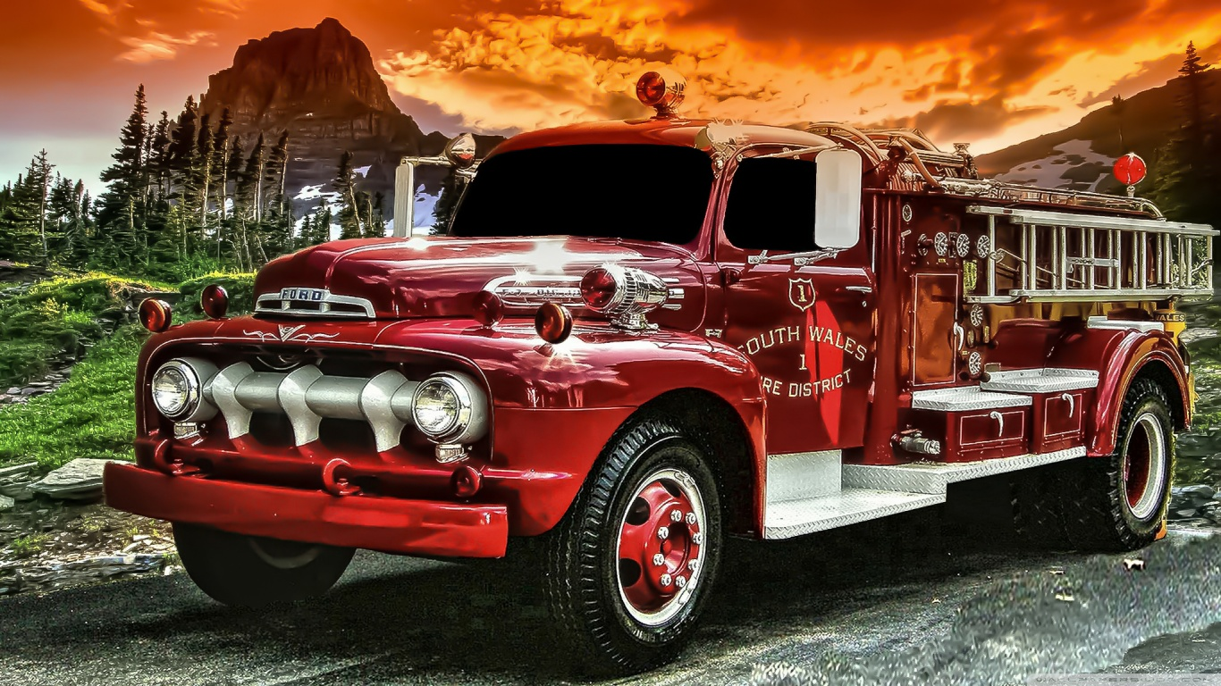 Fire Truck Wallpapers 38 Fire Truck High Resolution 1366x768