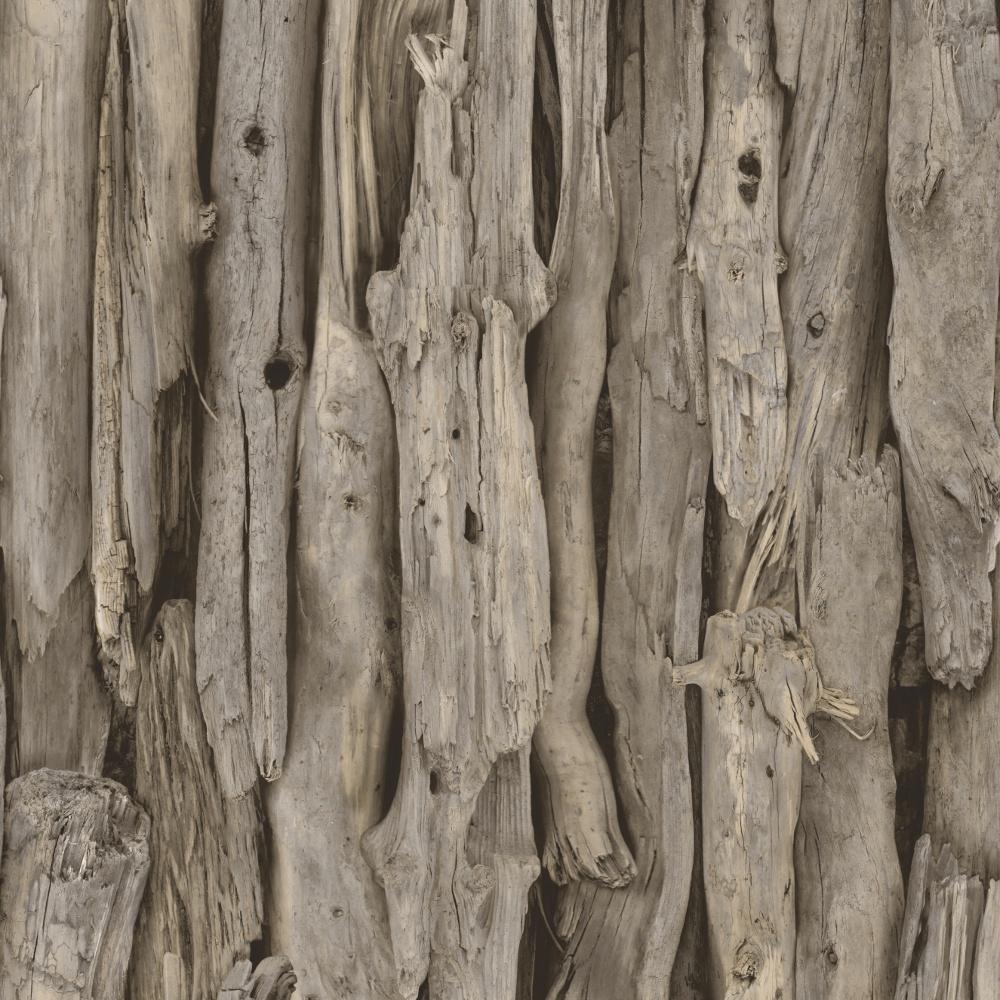Drift Wood Logs Pattern Realistic Photo Faux Effect Wallpaper 273304 1000x1000