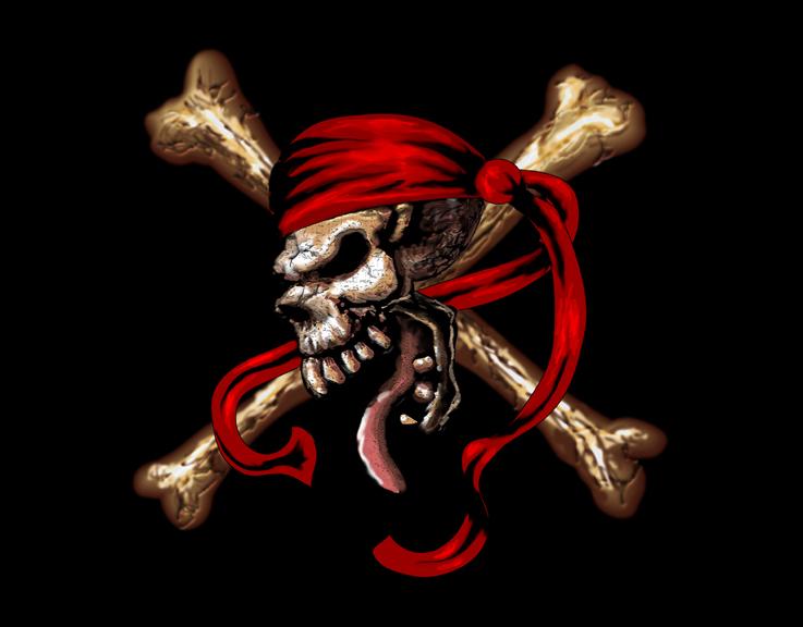 Pirate Flag Pirate Skull Wallpaper...
