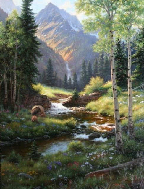 A Quiet Place by Mark Keathley waterfall stream 487x640