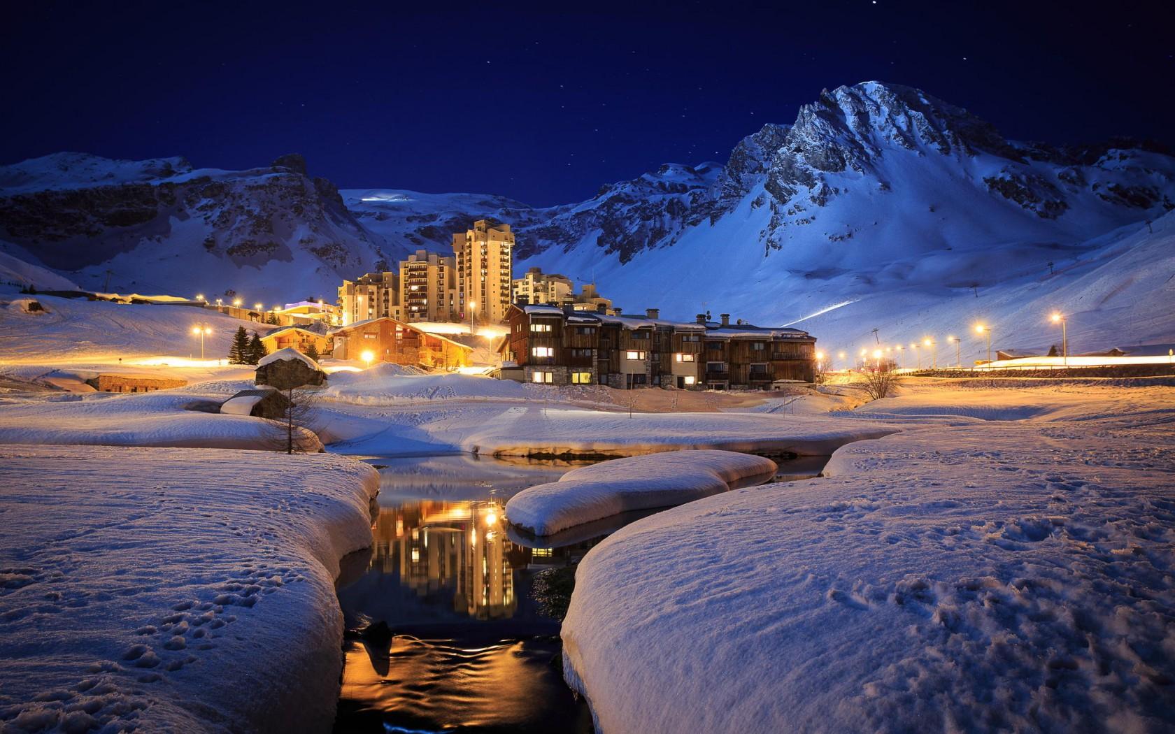 Ski resort in Tignes France [1680 1050] WinterFans 1680x1050
