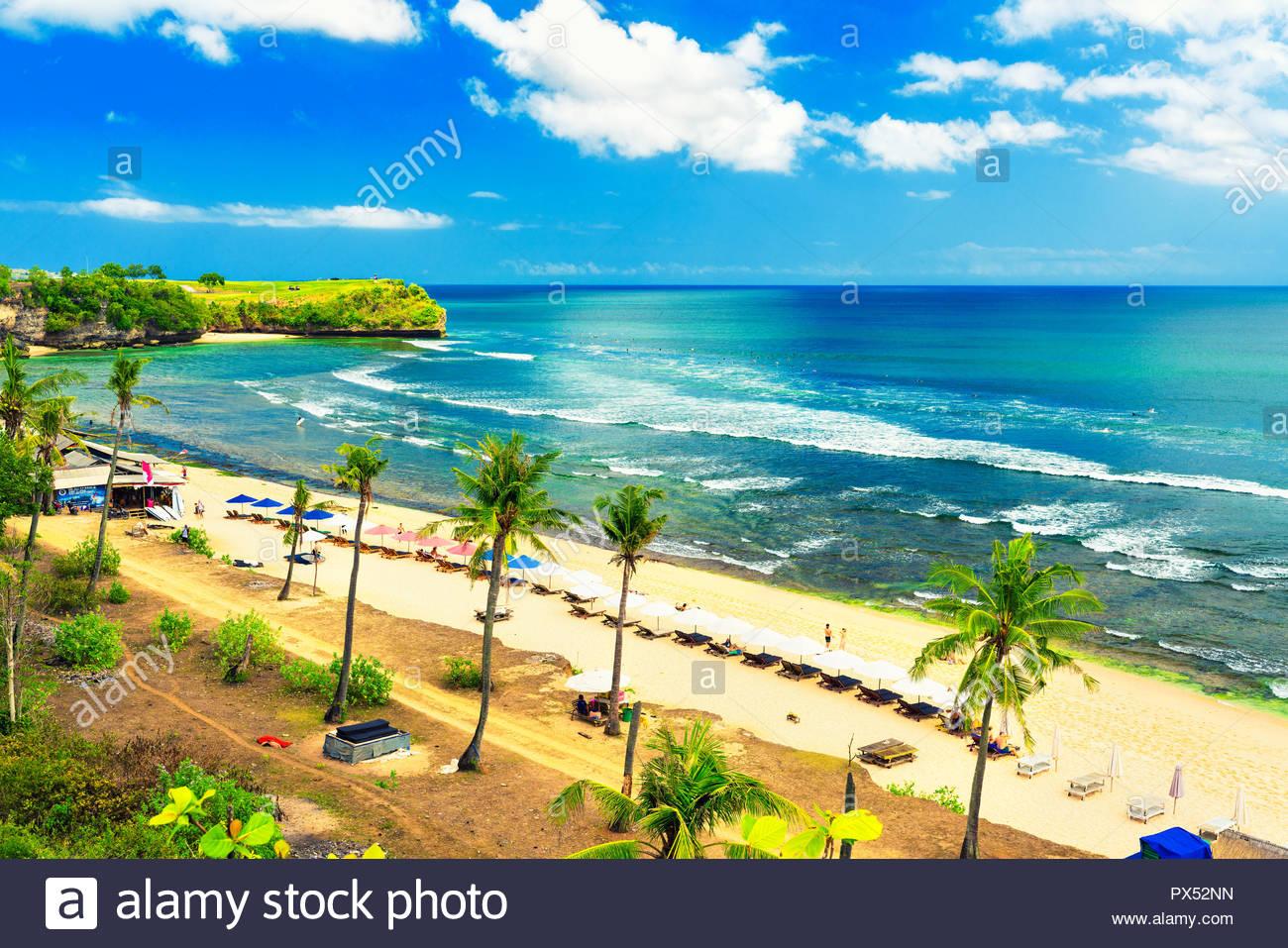 Happy travel tourist enjoy vacation on tropical beach Bali on 1300x957