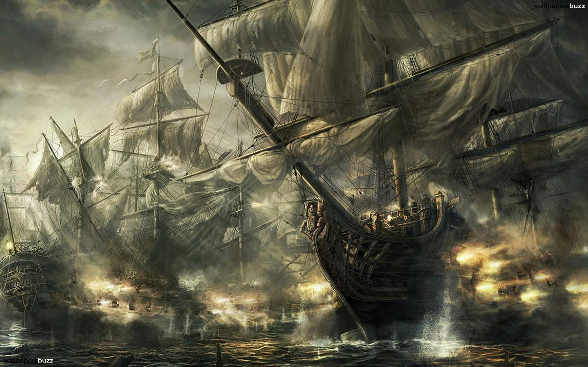 Amazing ship bay HD Wallpaper 1920x1200