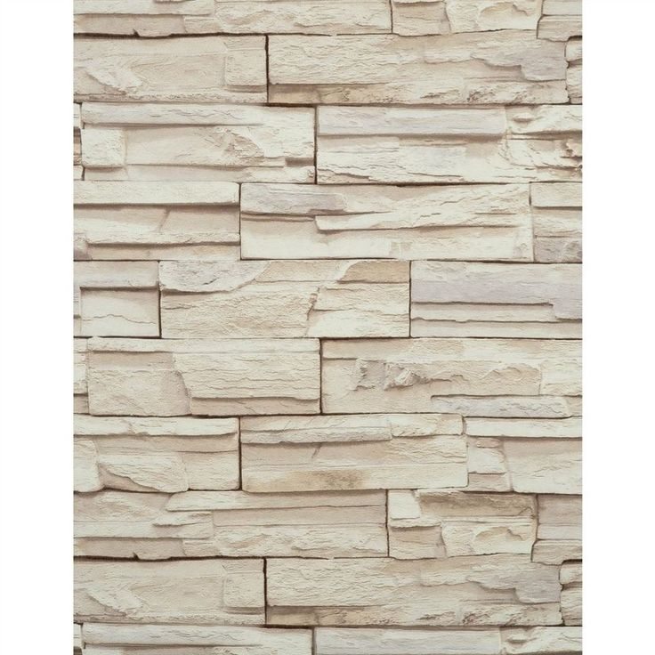 Stone Wallpaper Stacked Brick Tan Beige Heavy Duty Textured Wallpap 736x736