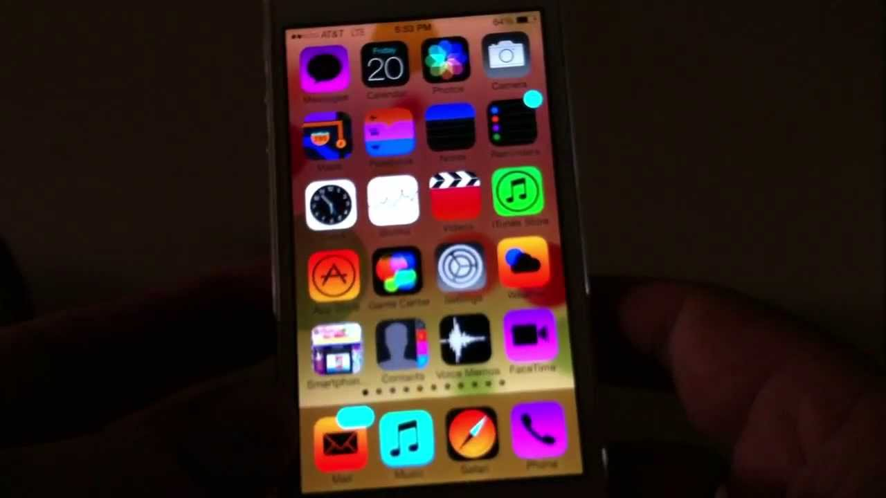 How to Change Colors of icons on iPhone 5 using iOS 7 1280x720