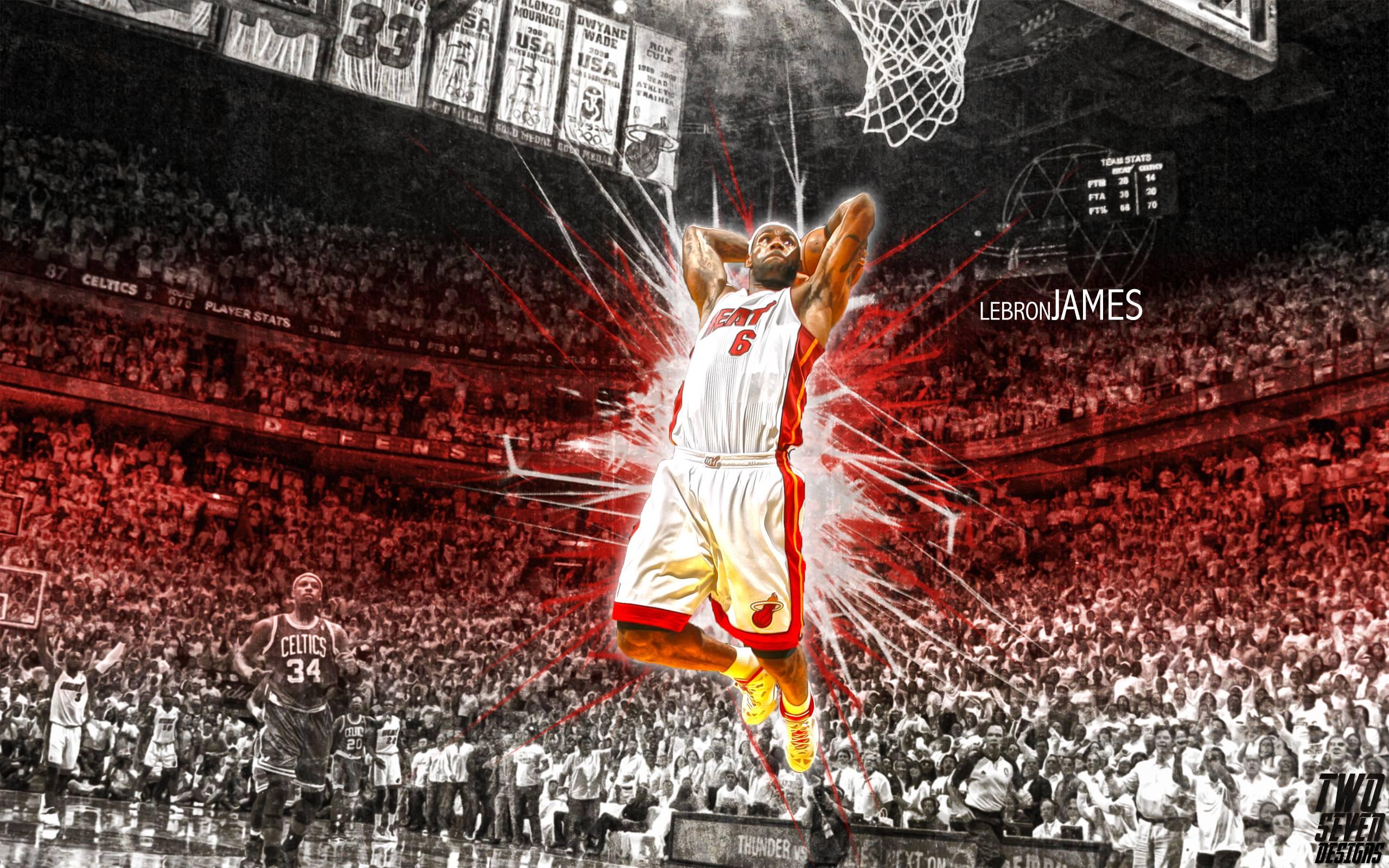 49+ LeBron James Heat Wallpaper Dunking on WallpaperSafari