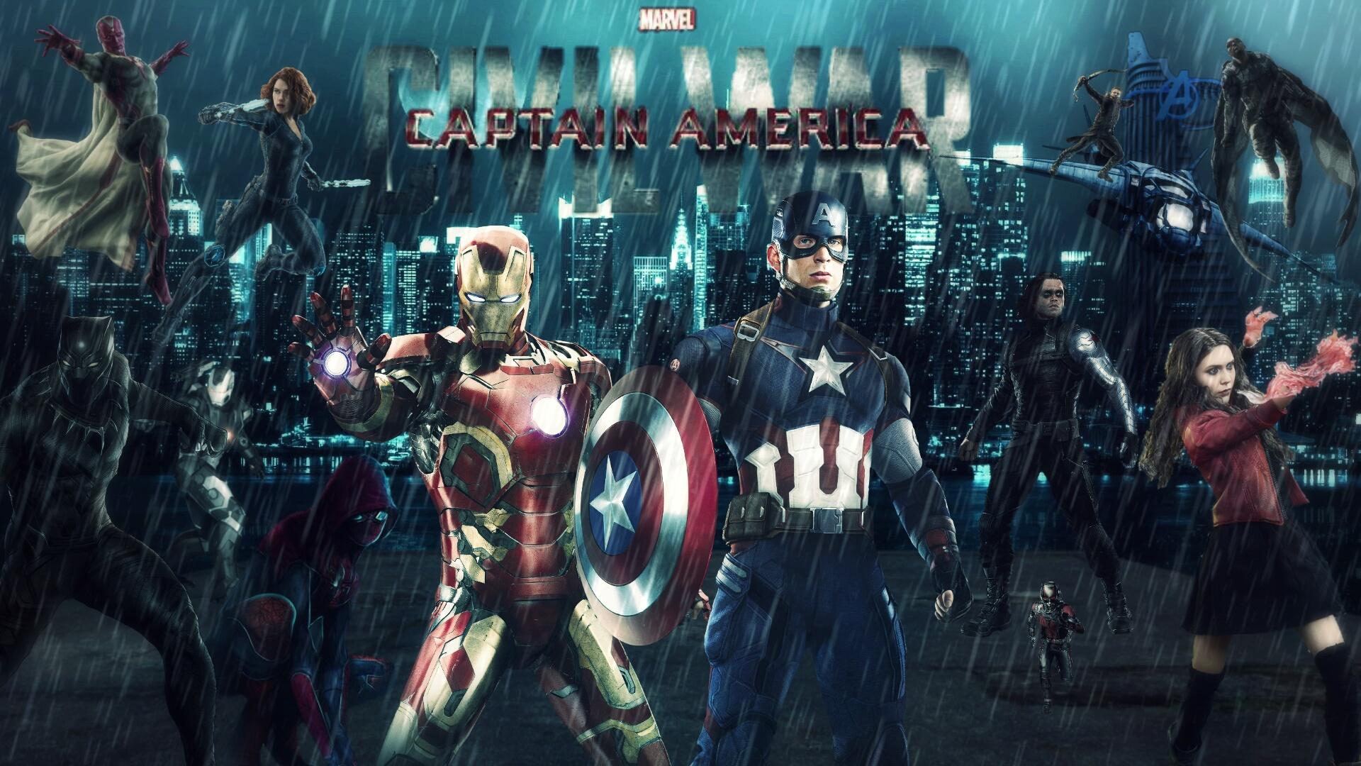 Captain America Civil War HD Wallpaper by 1920x1080