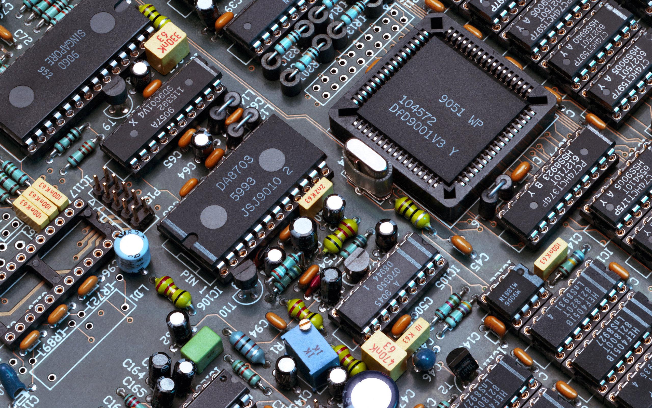 Board Electronics Wallpaper 2560x1600 Board Electronics Chip 2560x1600