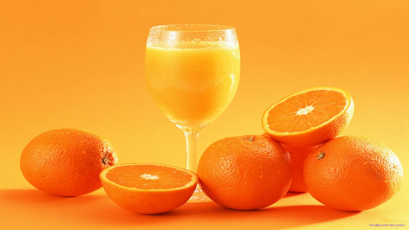 Orange Juice wallpaper 1366x768 5024 1366x768