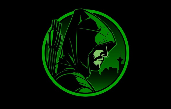 Green arrow dc hero black green hood 1920x1080 wallpapers 596x380