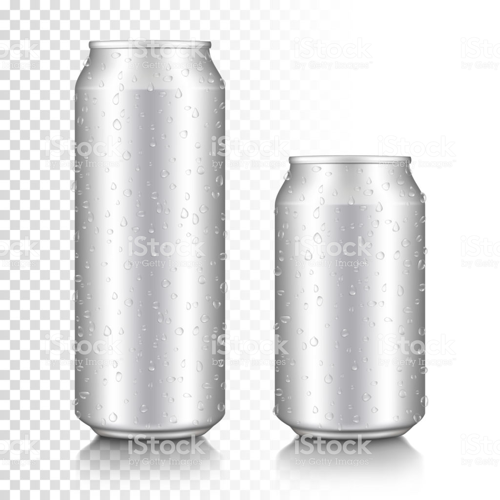 Realistic Aluminum Can Set Isolated On Transparent Background 1024x1024
