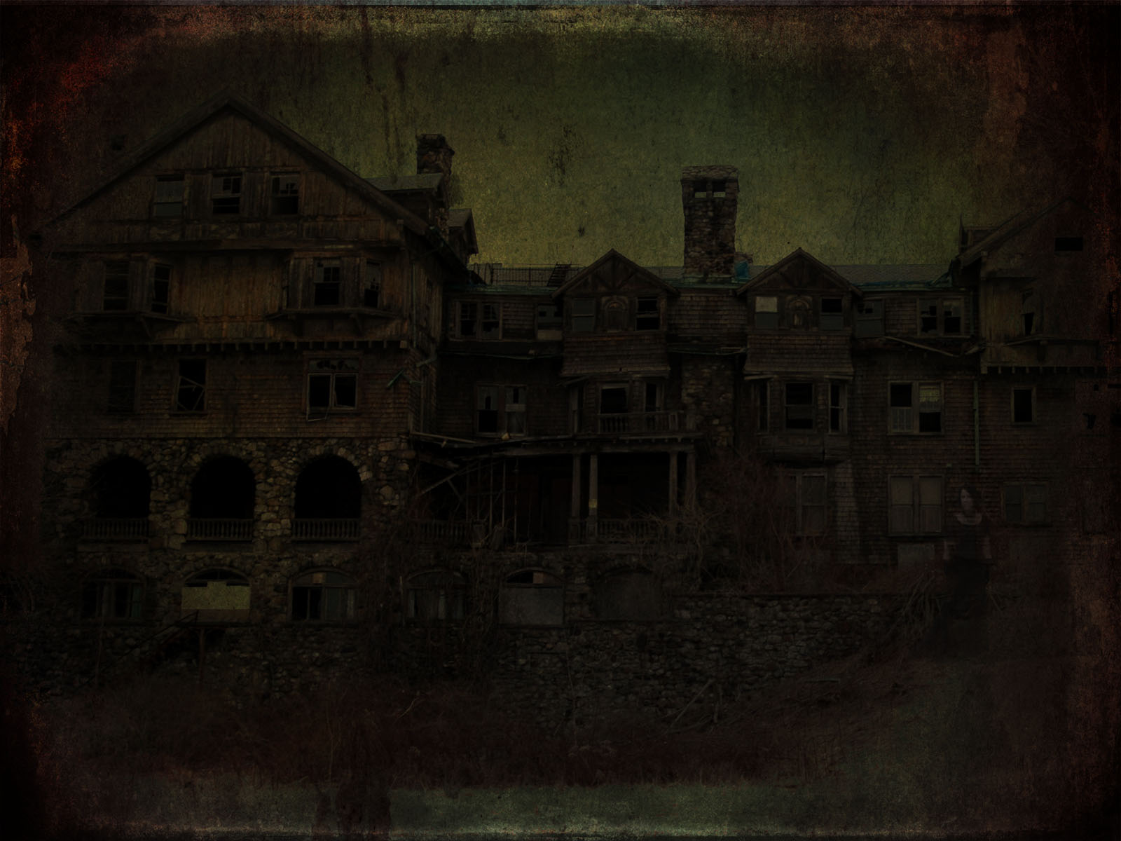 1600x1200 Haunted House desktop PC and Mac wallpaper 1600x1200