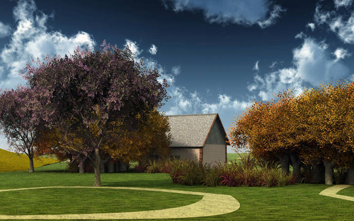 Beautiful farmhouse HD wallpaper More about Landscape wallpaper to 728x455