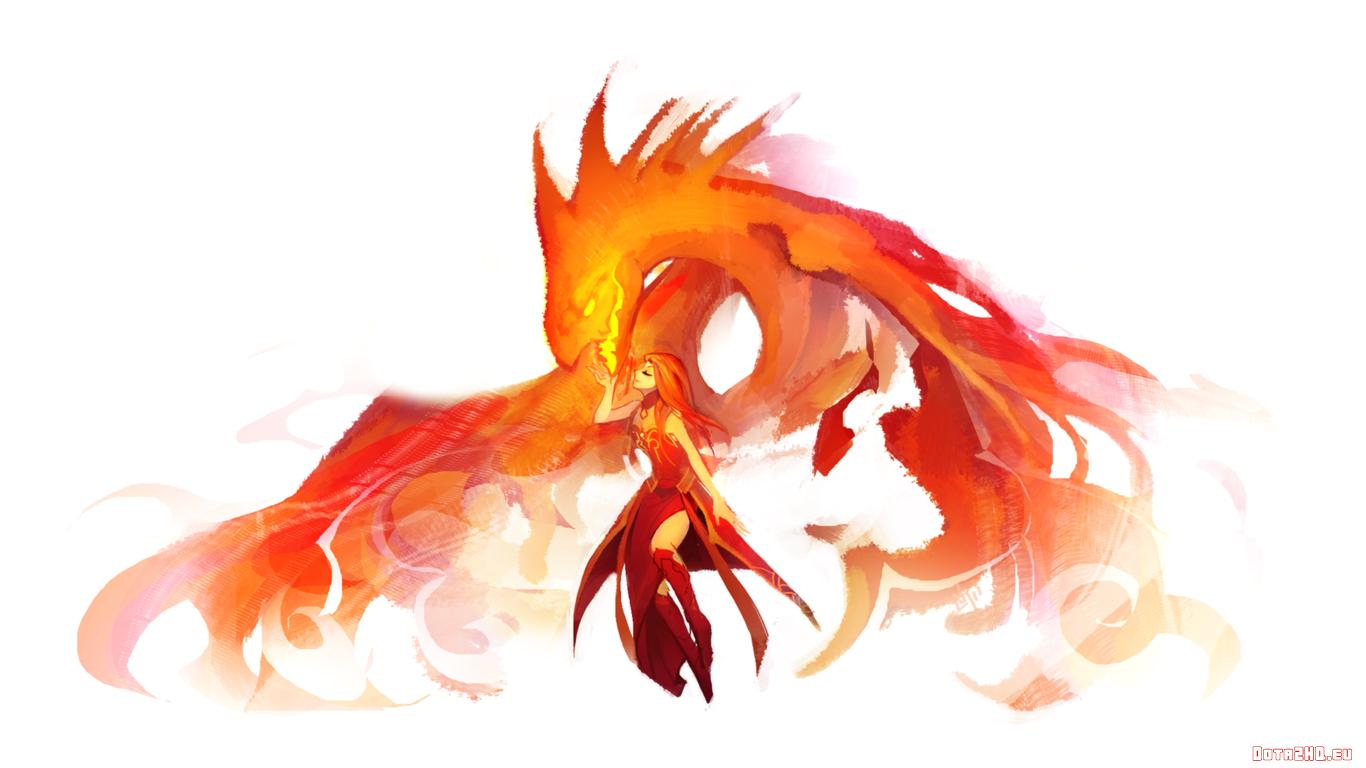 Lina the Slayer [Phoenix Kiss]   DOTA 2 Wallpapers 1366x768